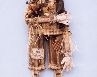 Primitive MAILED PATTERN No Crows Scarecrow