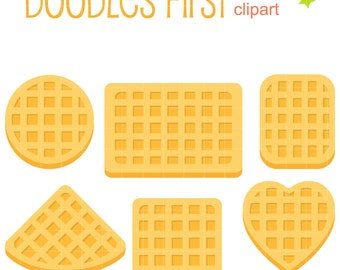 Belgian Waffle Shapes Clip Art for Scrapbooking Card Making Cupcake Toppers Paper Crafts