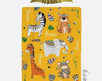 Personalized Baby blanket - Animal blanket - Newborn boy - Gender Neutral ideas - Baby blanket - Baby blanket personalised - Swaddle blanket