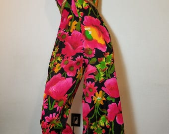 FREE SHIPPING   1960  Psychedelic  Palazzo  Jumpsuit