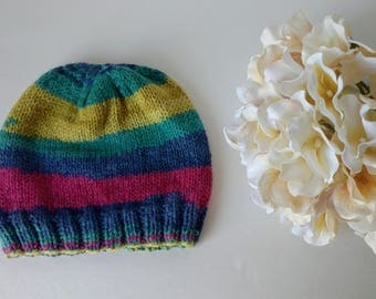 Simple Baby Cap, 12-18 month, Knitted Baby Hat #001