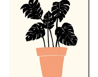 Modern Potted Plant No. 3 Wall Art // ART PRINT //  Home Decor, Wall Art, Modern Home Decor