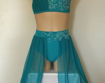 Jade Green Lyrical / Contemporary Costume Size 10 child - Ready to Post
