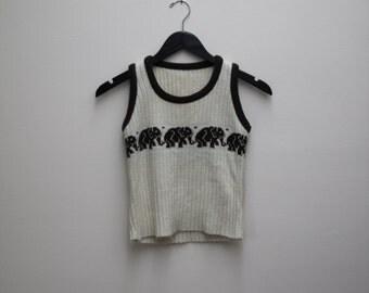 Elephants Marching Sweater Vest