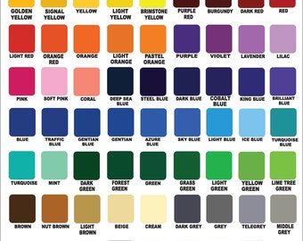"10 sheets of Oracal 651- 12"" x 12"" - Outdoor Vinyl / YOU PICK The COLORS- Permanent vinyl / outdoor vinyl / vinyl any cutter / oracle 651"