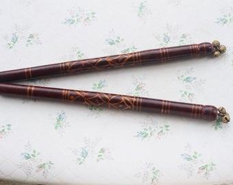 Morris Dancing Sticks with Jingle Bells - Folk Art Musical Instrument