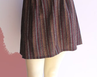 70's Vintage High-Waist  Aline Fit and Flare 'Porscha' Tapestry Mini Skirt