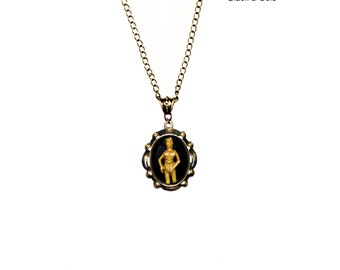 C3PO Cameo Necklace - Star Wars Bronze or Silver Pendant Necklace