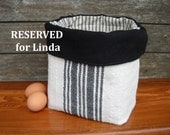 "RESERVED for Linda - Handwoven Fabric Storage Basket  8""x8"""