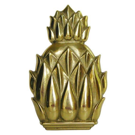 Vintage mid century brass pineapple door knocker hospitality - Pineapple door knocker ...