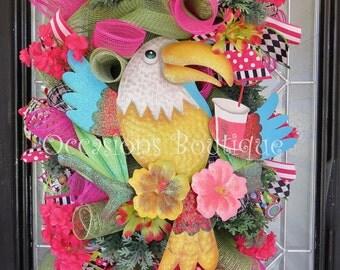 Spring Wreath, Summer Wreath, Door Swag, Wreath for Door, Large wreath, Spring Decor, Summer Decor