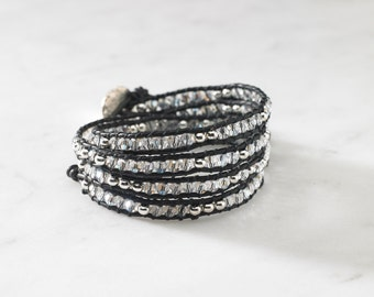 Moonlight Crystal 4 Wrap Bracelet