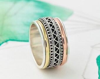 Spinner Rings, Worry Rings, Spinning Rings, Fidget Rings, Statement Rings, Boho Rings, Meditation Rings, Thumb Rings, Spin Rings JR131#woman