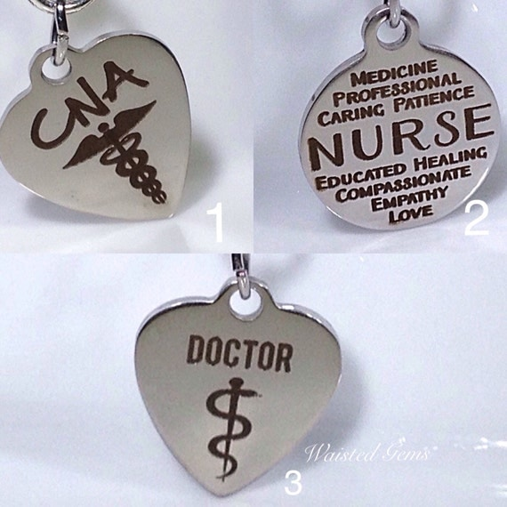 Choice Of - Custom Medical Charm Add-On Initial Charm Necklace, Charm Bracelet, Waistbead Charms  zmw1988