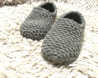 Crochet Wool Slippers, warm shoes, slipper socks, gray, beige, red, brown, black, handmade, adults and kids sizes