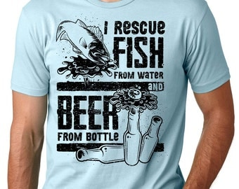 Fishing T-Shirt Gift For Fisherman Funny Fishing Drinking Tee Shirt