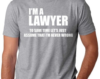 Lawyer T-Shirt Gift For Lawyer Funny Occupation Tee Shirt