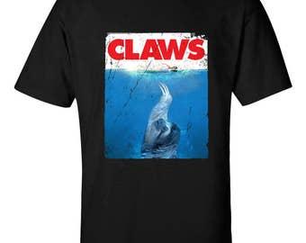 CLAWS T-Shirt Movie Mashup Parody Funny Sloth T-shirt Shirt tee Shirt Mens Ladies Womens Youth Kids MLG-1307