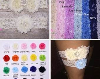 Wedding Garter Set, Wedding Garter Ivory, Lace Garter, Bridal Garter, ivory lace, lace wedding garter, wedding gift, plus size garter WG02