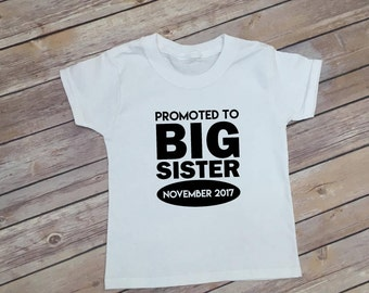 Big Sister Announcement Shirt - Big Sister Shirt -  Pregnancy Reveal Shirt - Personalized Shirt - Custom Shirt