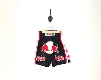 vtg thai boxing shorts // thai smai fighting bull gym shorts // muai thai shorts