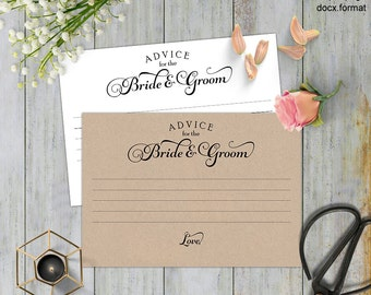 Advice cards wedding, Advice for the newlyweds, advice for the bride and groom, Advice wedding, printable,templates,Instant download,#S4-ABG