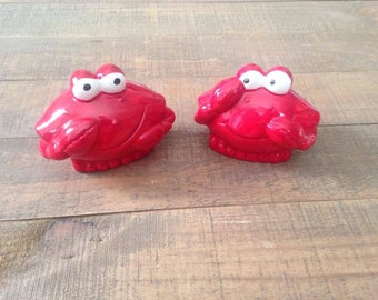 Crab Salt and Pepper Shakers, Crab, Salt and Pepper Shakers, Nautical Kitchen