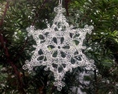 Silver Snowflake 2016a, Crocheted Wire