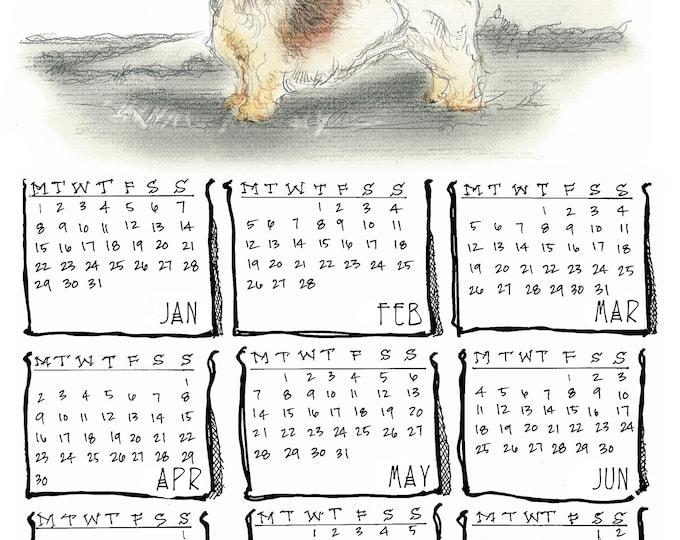 Petit Basset Griffon Vendeen 2018 yearly calendar