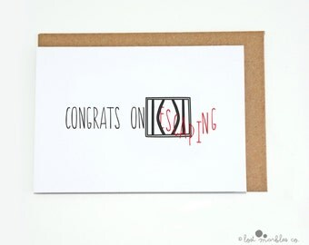 Funny New Job Card ∙ Leaving Card ∙ Congratulations Card ∙ Greetings Card ∙ Colleague Card ∙ Break-Up Card ∙ Congrats on Escaping