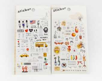 Bullet Journal Stickers // New York Stickers • Travel Journal • Diary Sticker • BuJo Decoration • Card Making • Kawaii Stationery • Crafts