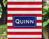 Garden Flag - Personalized Garden Flag - Striped Flag - Personalized Yard Flag - Wedding Gift - Housewarming - Hostess Gift - Double Sided