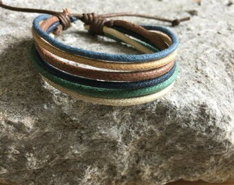 Vegan Bracelet, Vegan Jewellery, Hemp Cord Bracelet, Hemp Jewelry, Gifts Under 10 Well Made and Priced Right  HB-28