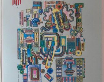 Original 1986 Eduardo Paolozzi Soho Jazz Festival Advertising Poster
