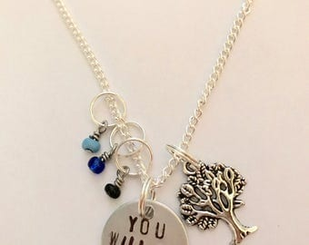 "Dear Evan Hansen Inspired Hand-Stamped Necklace - ""You Will Be Found"""