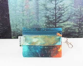 Magical Galaxy Glitter Zipper Wallet