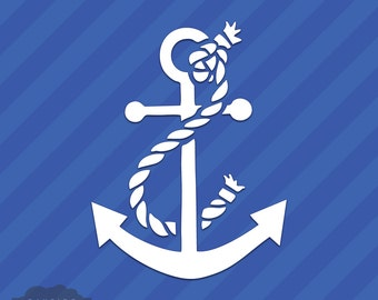 Boat Anchor With Rope Vinyl Decal Sticker