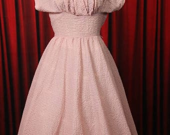 Pink vintage dress by Leroy