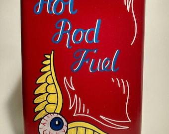 Von Dutch Hot Rod Fuel Can Kustom Kulture Rockabilly Pinstripe Art