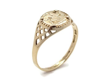 Gold Coin Ring, Sovereign Ring, Mens Rings, Mens Coin Ring, Gold Rings Men, Coin Ring, Gold Sovereign Ring, Coin Rings Gold, Men Gold Ring