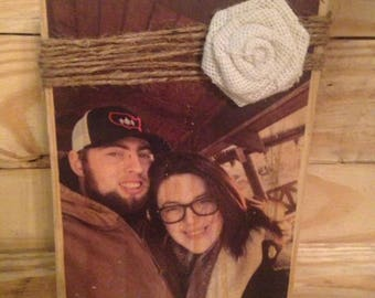 Personalized Photo Block / Wooden Photo Frame / Rustic Distressed Photo Block / Custom Photo Frame