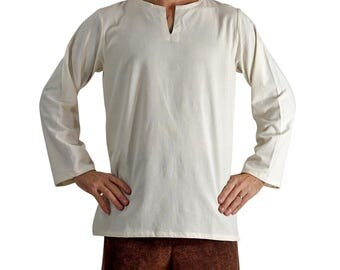 UNDERSHIRT CREAM -  Zootzu, Pirate Costume, Steampunk, Rennaisance Costume, Medieval Clothing, Ren Faire,Viking Tunic, Sca Garb, sca tunic