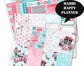 Holiday Stickers Winter Planner Kit 200+ Happy Planner Stickers, Mambi Planner Sticker kit, Weekly Planner Kit, Winter Stickers #SQ00657-MHP