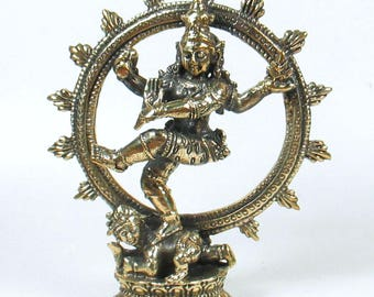 Shiva Nataraja Dancing Mini Statue Hindu God Amulet Lord of Dance