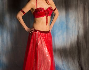Princess Red Cabaret Costume