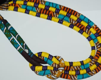 Knot African Print Necklace
