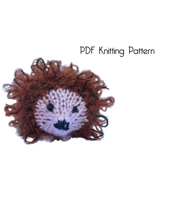 Stuffed Hedgehog Knitting Pattern : Knitted Fluffy Hedgehog Pattern PDF Pattern Knitting
