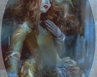 Ready to Ship beautiful Wedding Angel Fairy Gold Headdress Crown Glitter Flower Trim Headpiece Goddess Lady elegant