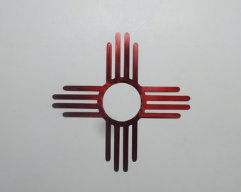 New Mexico Zia Sun Symbol -  Metal Sign Z2
