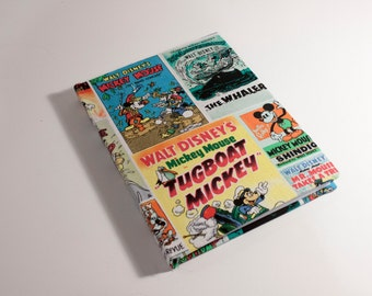 """Mickey Mouse Comic Themed LINED Paper 6""""x8"""" Journal"""